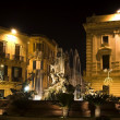 Syracuse, Sicily night street — Stock Photo