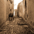 Old Italy ,Sicily, Eriche city — Stock Photo
