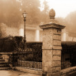 old italy ,sicily, fog in eriche city — Stock Photo