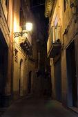 Syracuse, Sicily night street — Stock Photo