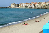 Classic Italy - Cefalu city Sicily — Stock Photo
