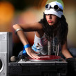 Cool DJ in action — 图库照片