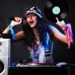 Cool dj in azione — Foto Stock