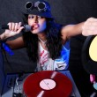 Cool DJ in action — Foto de Stock