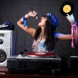 Cool DJ in action — Foto Stock