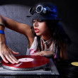 cool dj i aktion — Stockfoto