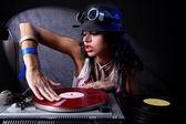 Cool dj in azione — Foto Stock