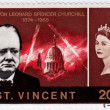 Постер, плакат: Stamp show Winston Churchill