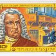 Stamp shows Johann Sebastian Bach — Stock Photo #2495300