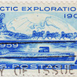 Foto Stock: Stamp of Arctic Exploration