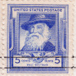 Постер, плакат: Stamp of Walt Whitman American poet