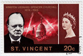 Stamp show Winston Churchill — Stock Photo