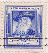Stamp of Walt Whitman - American poet — Stock Photo