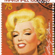 Постер, плакат: Stamp with actress Marilyn Monroe