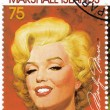 Stamp with actress Marilyn Monroe — Stockfoto