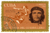 Stamp with Ernesto Che Guevara — Stock fotografie