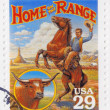 Stamp shows Home on the Range — Foto Stock