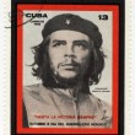 Постер, плакат: Cuba stamp with Ernesto Che Guevara