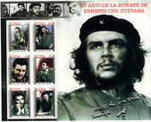 Cuba stamp with Ernesto Che Guevara — Stockfoto