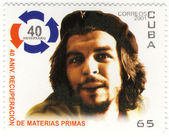 Stamp with Ernesto Che Guevara — Стоковое фото