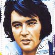 Stamp with Elvis Presley — Stock Photo