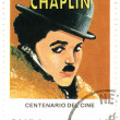 Stamp with Charles Spenser Chaplin - Stock Photo