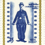 Постер, плакат: Stamp with Charles Spenser Chaplin