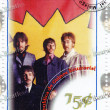 Постер, плакат: Stamp with famous group The Beatles