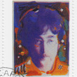 Stock Photo: Stamp with John Lennon from Beatles