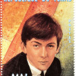 Stamp with famous singer George Harrison — Stock Photo #2539203