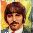 Stock Photo: Stamp with Ringo Starr from Beatles