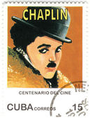 Stamp with Charles Spenser Chaplin — Stockfoto