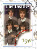 Stamp with famous group The Beatles — Stock Photo
