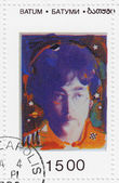 Stamp with John Lennon from The Beatles — Stock Photo