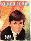 Stamp with famous singer George Harrison — Stock Photo
