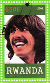 Stamp with George Harrison — Stock Photo