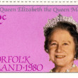 Stamps with Queen Elizabeth — Stock Photo