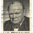 Stock Photo: Stamp with Winston Churchill