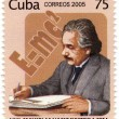 CUBA stamp with  Albert Einstein - Stock Photo