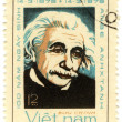 Stock Photo: Stamp show Albert Einstein