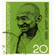 Postage stamp Mahatma Gandhi — Stock Photo