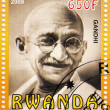 Stock Photo: Stamp with Gandhi
