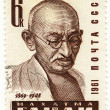 Vintage stamp with Mahatma Gandhi — Stock Photo