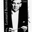 Stock Photo: Stamp with composer Leonard Bernstein
