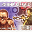 Foto Stock: Stamp with famous musiciMiles Davis