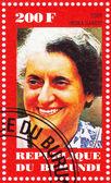 Stamp show Indira Gandhi — Stock Photo