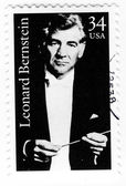 Stamp with composer Leonard Bernstein — Stock Photo