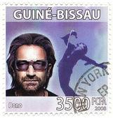 Stamp with Bono — Stock Photo