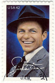 Stamp show Frank Sinatra — Stock Photo