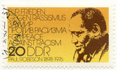 Stamp with singer Paul Robeson — Stock Photo